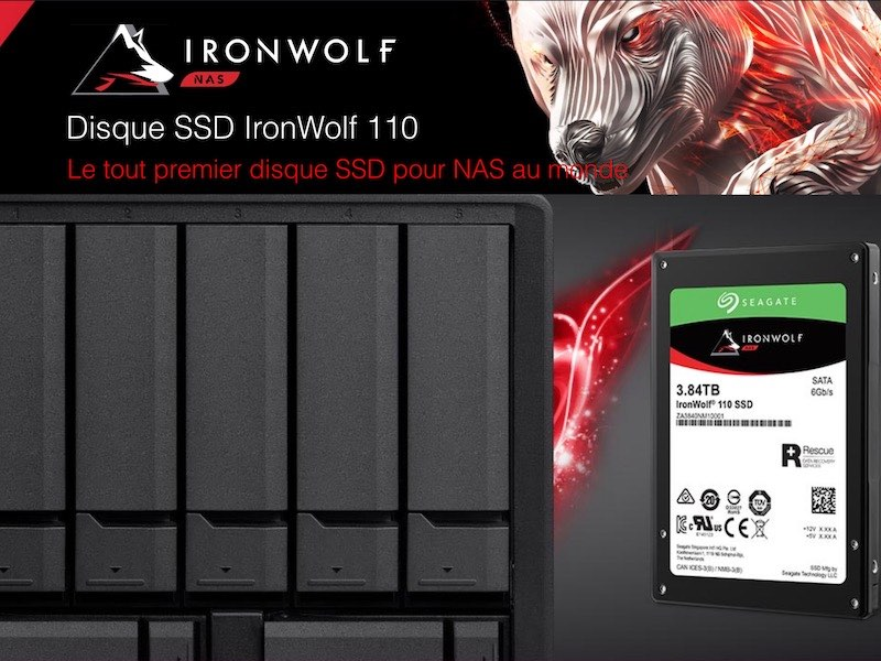 SSD IronWolf - Seagate lance le SSD pour les NAS : IronWolf 110