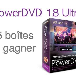 gagner powerDVD18 293x293 - Concours - PowerDVD 18 Ultra  [Partenariat]