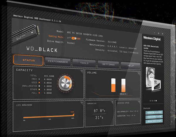 wd black dashboard - WD Black SN750 NMVe SSD est lancé