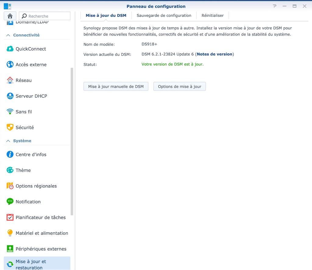 DSM 6.2.1 23824 6 - [Brève] Synology met à jour ses NAS avec DSM 6.2.1 Update 6