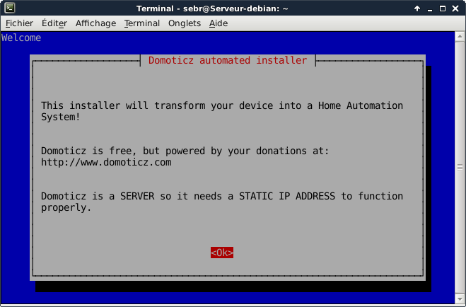 Domoticz install debian 2 - Installer Domoticz sur Debian 8 (Jessie)