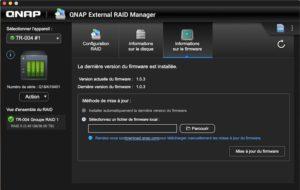 QNAP External RAID Manager firmware 300x190 - Test du QNAP TR-004