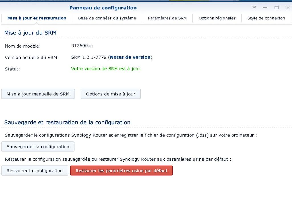 SRM 1.2.1 7779 - Synology met à jour ses routeurs : SRM 1.2.1-7779