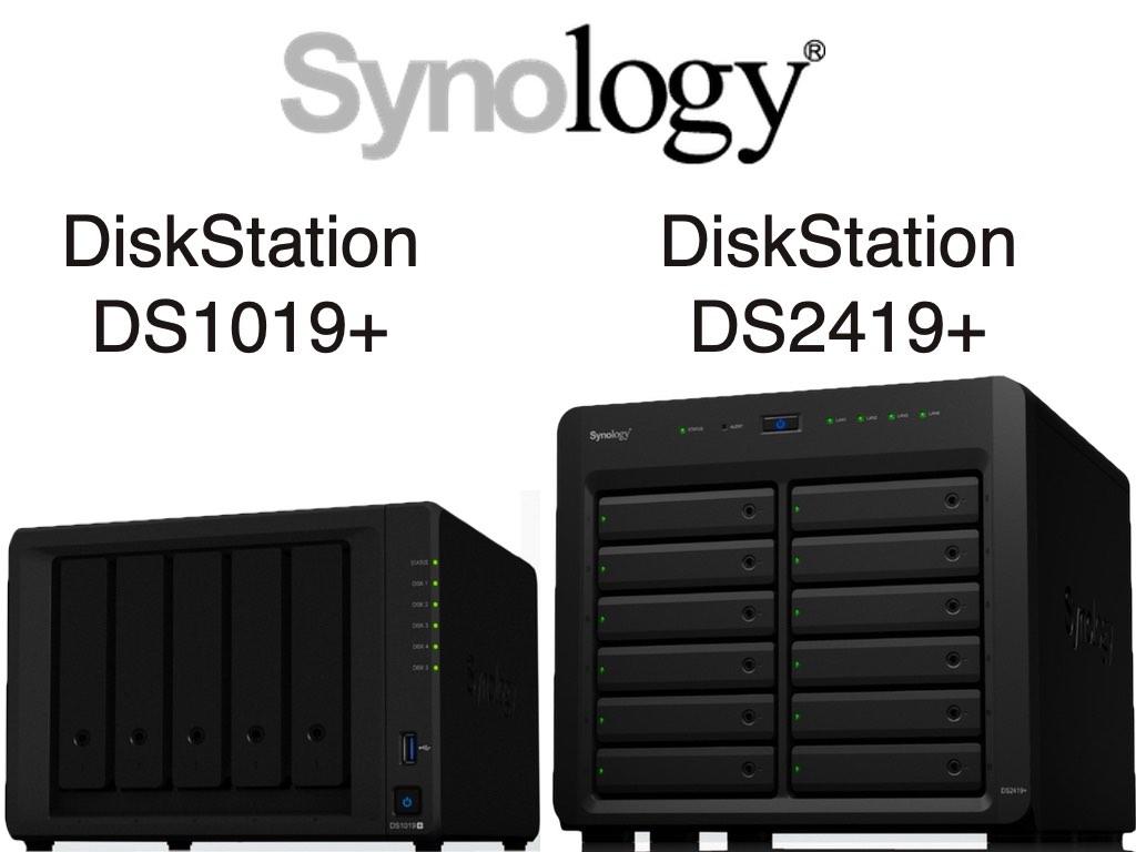NAS - Synology DS1019+ et DS2419+ sont officiellement lancés