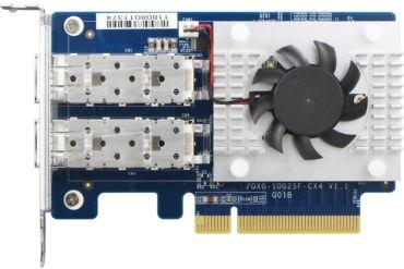 qnap qxg 25g2sf cx4 370x247 - QNAP annonce sa carte réseau Dual 25GbE : QXG-25G2SF-CX4