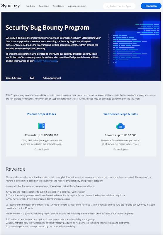 security bug bounty - Bug Bounty Synology : Fabien nous raconte comment il a gagné 3000$...