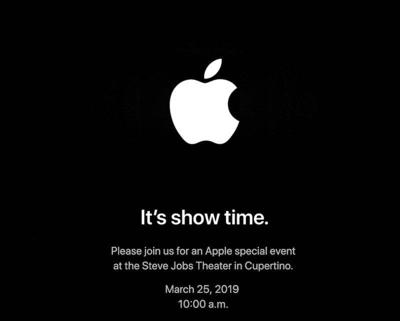 Apple Show Time - Apple - Le prochain évènement est fixé au 25 mars