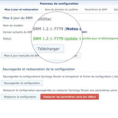 Capture SRM 121 u1 390x390 - Synology met à jour ses routeurs avec SRM 1.2.1 update 1