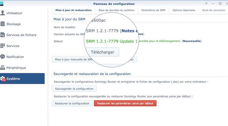 Capture SRM 121 u1 770x427 - Synology met à jour ses routeurs avec SRM 1.2.1 update 1