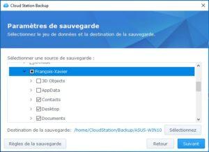 CloudStationBackup configuration2 300x218 - NAS Synology et règle de sauvegarde 3-2-1