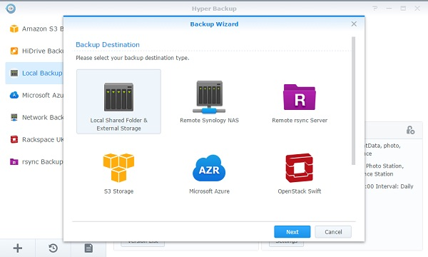 Hyper Backup - NAS Synology - Mise à jour des applications / packages
