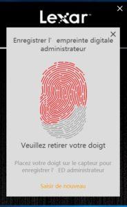 Lexar5 184x300 - Test de la clé USB Lexar FingerPrint F35 32Go