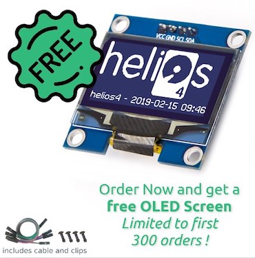 helios4 free oled - Helios4 - NAS Open Hardware et Open Source... en kit