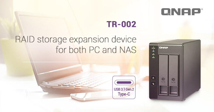 QNAP TR 002 - QNAP lance le TR-002 (DAS 2 baies)