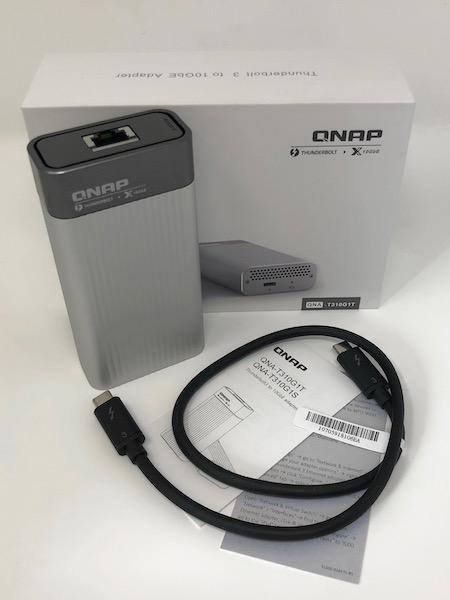 QNAP QNA T310G1T - Test du QNAP QNA-T310G1T : Adaptateur Thunderbolt 3 vers 10GbE