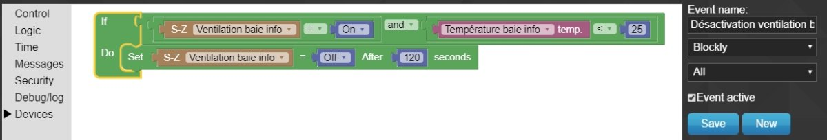 Ventilation baie info 13 - Domoticz - DIY automatiser la ventilation de votre baie informatique