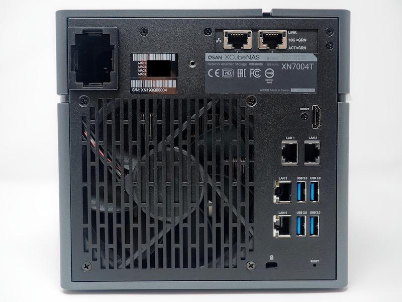 XN7004T arriere - NAS - Test du QSAN XN7004T