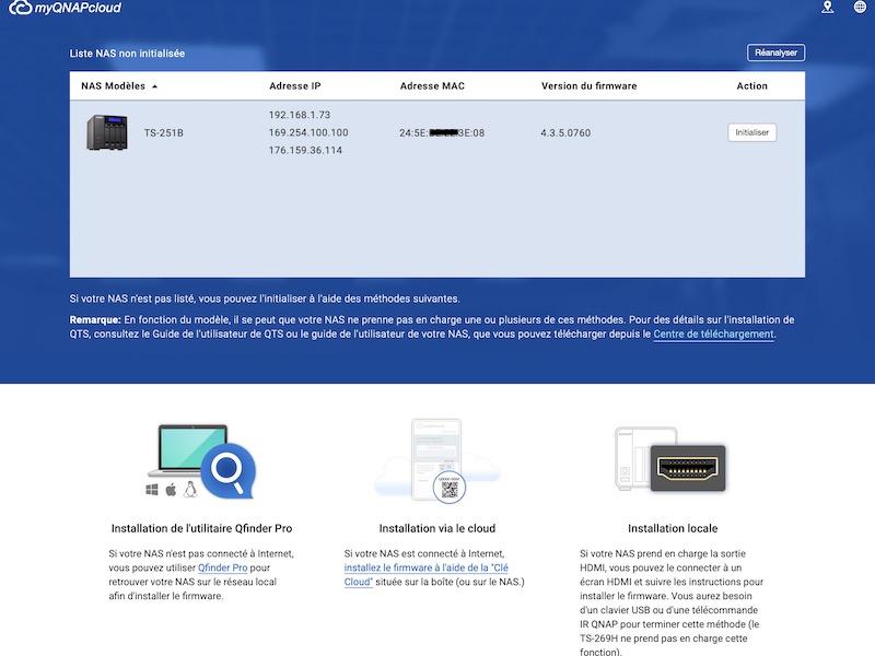 installation qnap - Prise en main d'un NAS QNAP