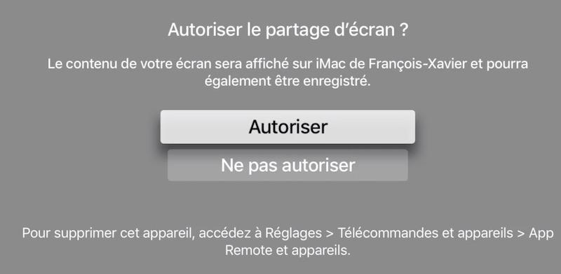 partage OK ATV4 - Comment enregistrer l'Apple TV avec un ordinateur ?
