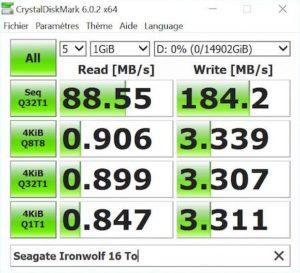 CrystalMark IronWolf 300x273 - Test Seagate IronWolf 16 To (disque NAS)