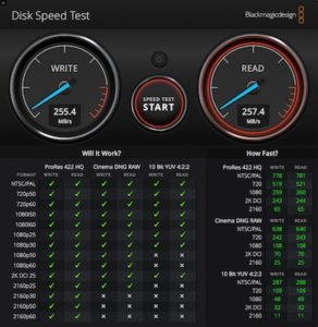 Disk Speed Test 1GB 292x300 - Test Seagate IronWolf 16 To (disque NAS)