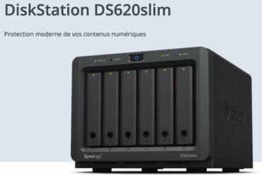 synology DS620slim 370x247 - Synology lance le DS620slim : 6 baies, Intel J3355, 2Go de RAM, 2 USB 3.0 et 2 RJ45