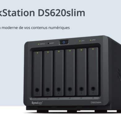 synology DS620slim 390x390 - Synology lance le DS620slim : 6 baies, Intel J3355, 2Go de RAM, 2 USB 3.0 et 2 RJ45