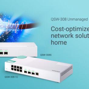 QNAP QSW 308S 1C 293x293 - QNAP lance 2 nouveaux switchs 10 GbE : QSW-308-1C et QSW-308S