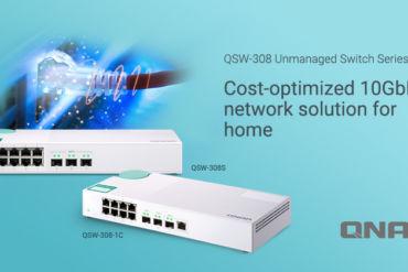 QNAP QSW 308S 1C 370x247 - QNAP lance 2 nouveaux switchs 10 GbE : QSW-308-1C et QSW-308S