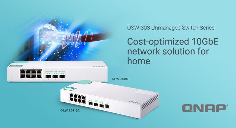 QNAP QSW 308S 1C 770x420 - QNAP lance 2 nouveaux switchs 10 GbE : QSW-308-1C et QSW-308S