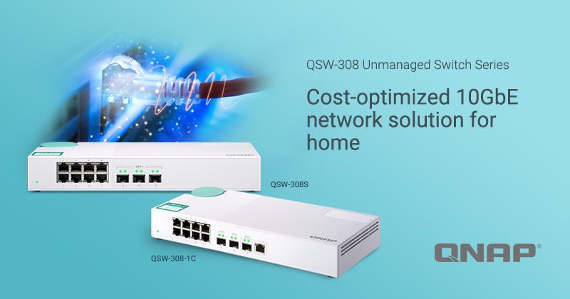 QNAP QSW 308S 1C - QNAP lance 2 nouveaux switchs 10 GbE : QSW-308-1C et QSW-308S