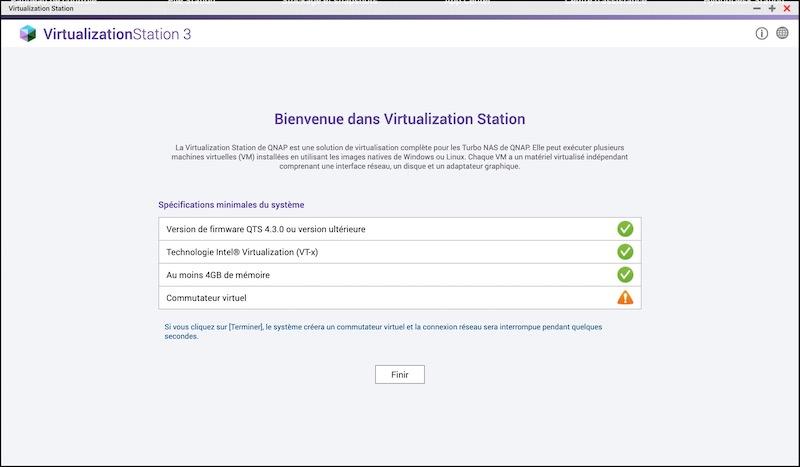 controle virtualization station - Virtualisation avec un NAS QNAP