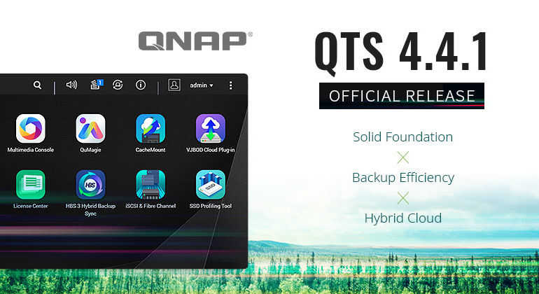 QTS 441 770x420 - NAS - QNAP QTS 4.4.1 est maintenant officiellement disponible