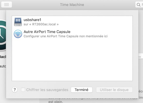 TimeMachine - Time Machine avec un routeur Synology (Time Capsule)