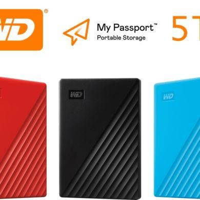WD my passport 5TB 390x390 - Western Digital présente le nouveau My Passport avec 5 To