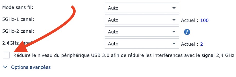 reduire usb - Time Machine avec un routeur Synology (Time Capsule)