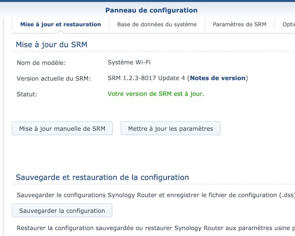 Capture update4 - Routeur Synology SRM 1.2.3 update 4