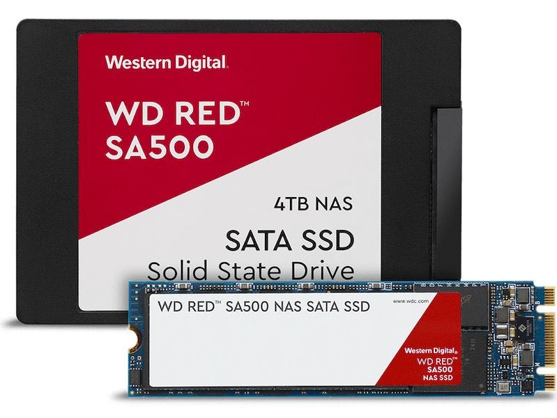 wd red sata ssd family - Western Digital annonce de nouveaux produits pour les NAS : WD Red (Pro) 14 To et SSD WD Red