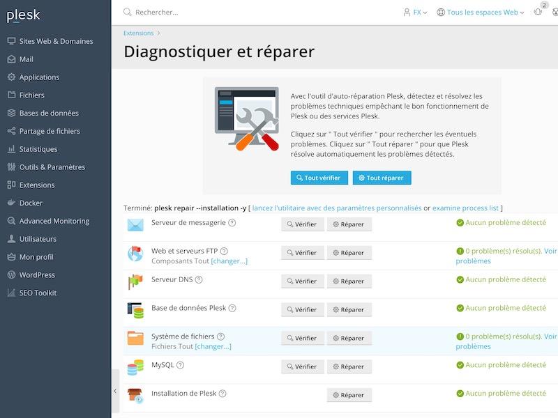 Plesk Diagnostiquer et reparer - Plesk : Détecter et réparer facilement les erreurs sur votre hébergement