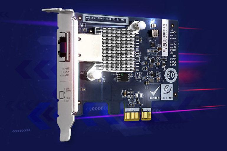 QXG 5G1T 111C 770x512 - QNAP annonce l'arrivée de 3 cartes réseau 5 Gbit/s à partir de 77$