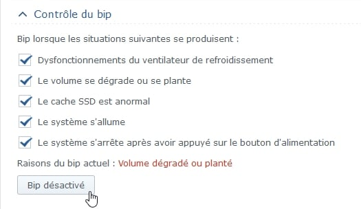 Synology ES hdd 10 - Synology : Remplacer un disque défectueux