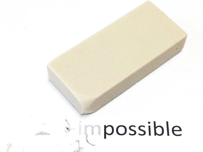 impossible gomme - Effacer définitivement vos fichiers