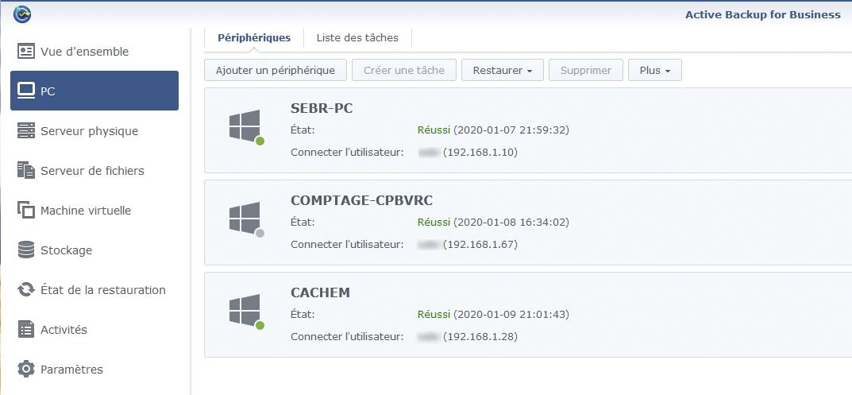 Syno active backup pc 3 - [Tuto] Synology Active Backup - Sauvegarder intégralement votre PC, Serveur, VM (Partie 1 Backup)