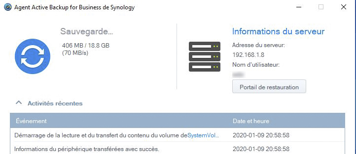 Syno active backup pc 8 - [Tuto] Synology Active Backup - Sauvegarder intégralement votre PC, Serveur, VM (Partie 1 Backup)