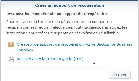 Synology active back resto 4 - [Tuto] Synology Active Backup – Sauvegarder intégralement votre PC, Serveur, VM (Partie 2 Restauration)