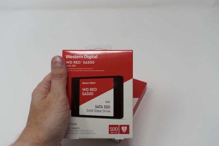 WD RED SA500 boite 770x513 - Test SSD WD Red SA500 pour NAS