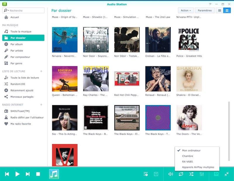 audio station albums dossier - Les solutions multimédias de Synology