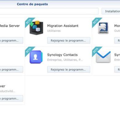 synology paquets beta 390x390 - Synology prépare DSM 7.0 et propose les premiers paquets en Bêta