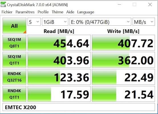test emtec x200 - Test du EMTEC SSD portable X200