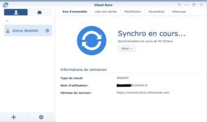 Cloud Sync kDrive Synology 300x177 - Sauvegarder et synchroniser son NAS Synology avec kDrive